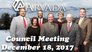 Preview image of Arvada City Council Meeting   December 18, 2017