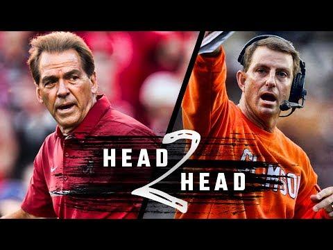 Head to Head: Alabama vs. Clemson