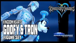 Diamond Select Toys Kingdom Hearts Select Wave 3 Goofy and Tron Figure Set Review
