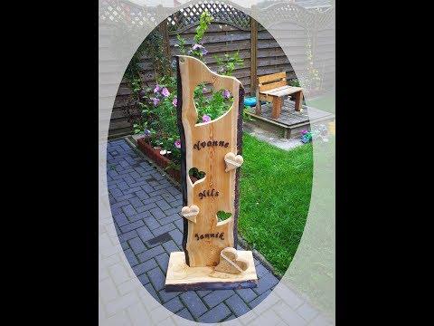 Der Hölzerne Hochzeits - Holzstelen -  Deko Aufsteller 09/2017