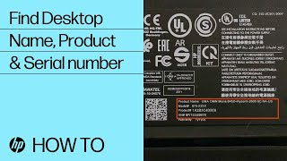 Find Your HP Desktop Model Name, Product Number, or Serial Number   HP Computers   HP