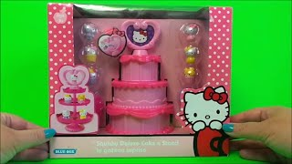 Hello Kitty Sanrio Squishy Cake n Stand UK Toy Unboxing