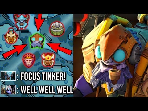 EPIC Sh*t Scepter Tinker Mid vs HARD Counter Crazy Fast Hand Non-Stop Gank Mid Imba 7.22 Dota 2