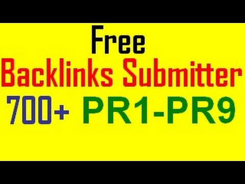 Free Backlinks Submitter Online tool