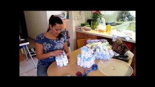 How to make your own diaper cake - עוגת חיתולים