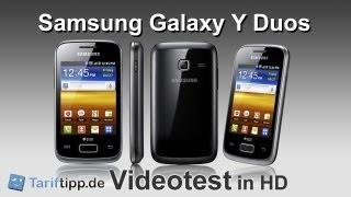 Samsung Galaxy y DUOS   Handytest in HD (deutsch)