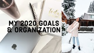GETTING ORGANIZED IN 2020! | Planning, Goals, Tips