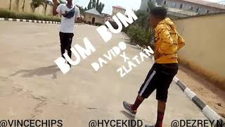 DMW , DAVIDO Ft ZLATAN | BUM BUM Best Dance Video(prod By Vincechips)