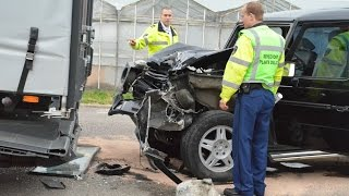 Mercedes-Benz G-Class Crash, Safest car at Cor Millenaar.G-Klasse, de veiligste auto ter wereld!