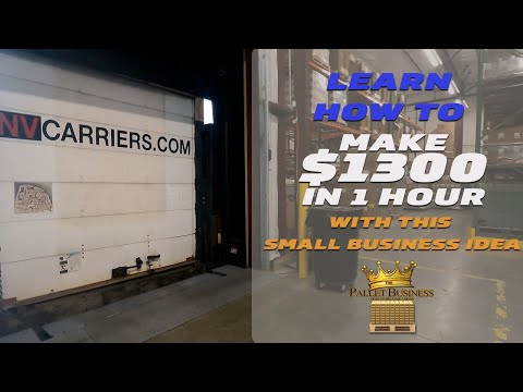 Learn How to Make $1300+ in 1 Hour with this Small Business Idea   The Pallet Business Course