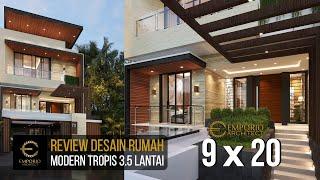 Video Desain Rumah Modern 3.5 Lantai Bapak David di  Jakarta Barat