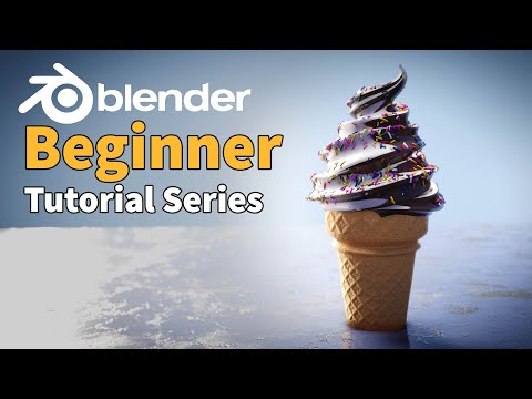 blender 2.8 tutorials of an ice cream by cg geek