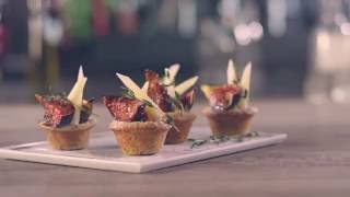 Muffins d'Appenzeller® i llavors de rosella, farcits de figues rostides Video