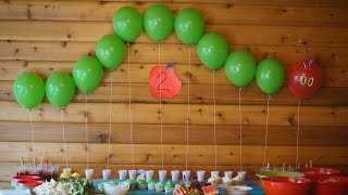 The Very Hungry Caterpillar Birthday Party! // MadsenFamily