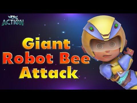 Vir: The Robot Boy | Hindi Cartoons for kids | Giant Robot Bee Attack | WowKidz Action