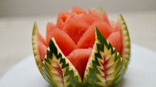 WATERMELON CARVING   NEW IDEA   Fruit & Vegetable Carving