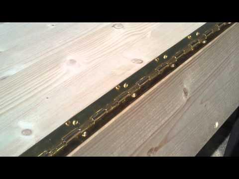 Holz Kisten Truhen günstig selber mit Klavierband Bauen 07