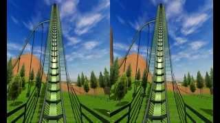 3D Active/Passive -  Roller Coaster - Test 3D Side by Side