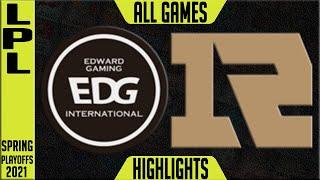 EDG vs RNG TÜM OYUNLARI Öne Çıkarıyor | LPL Playoffları Yarı Final Bahar 2021 | Edward Gaming vs Royal
