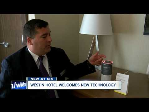 Amazon Echo in every room at Westin