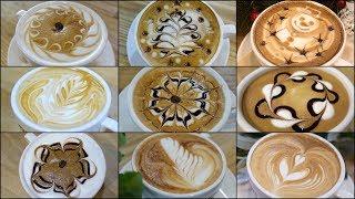 9 Different Latte Art Designs #1
