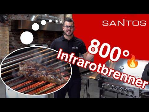 Grill Neuheit 2019: Gasgrill Klassiker SANTOS Eden jetzt mit 800° Infrarot Seitenbrenner Hands-on