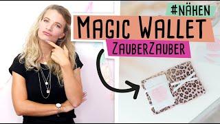 Magic Wallet nähen mit kostenlosem Schnittmuster //delari