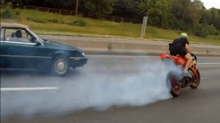 Motorcycle Accident DRIFTING Crash On Highway Honda CBR1000RR Drift Gymkhana Bike Drifts Video 2016