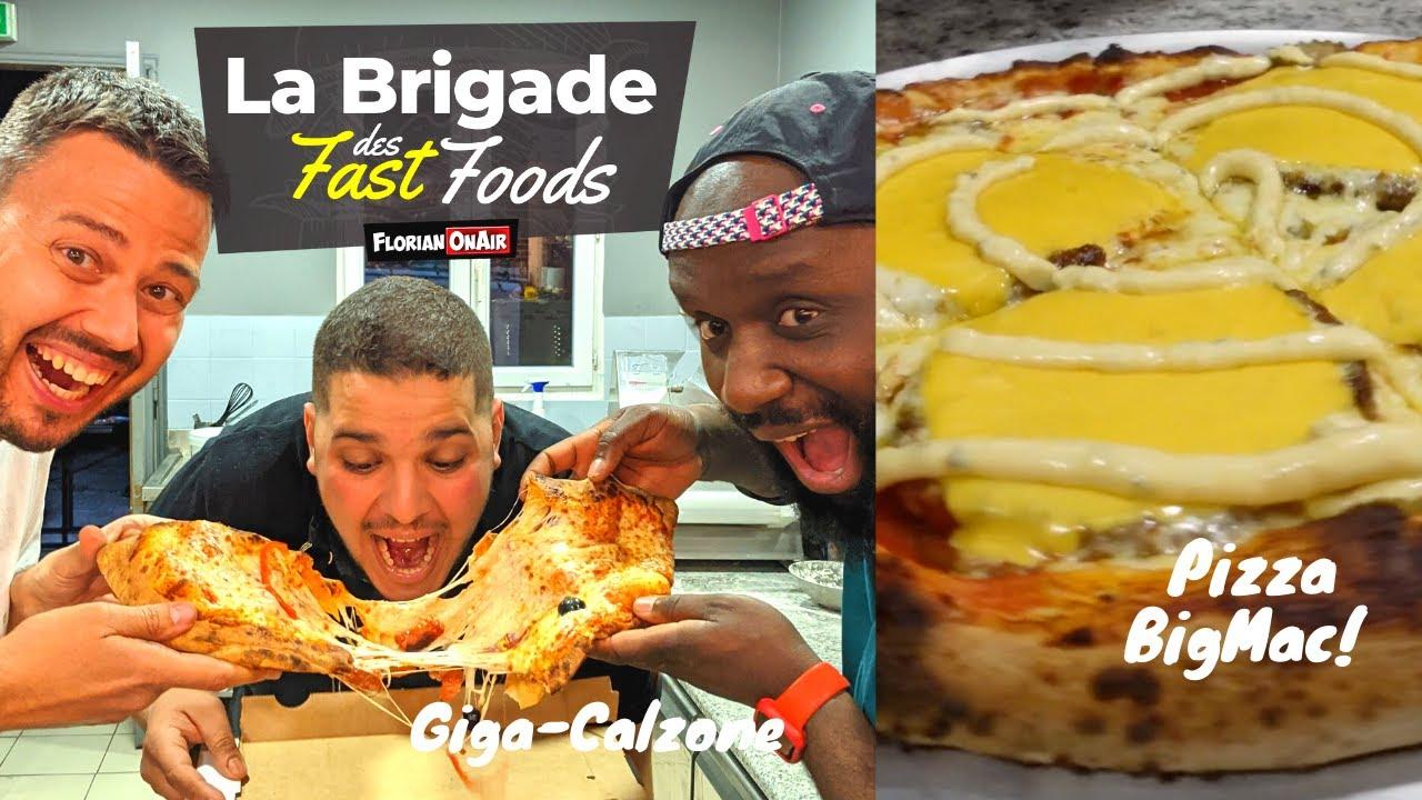 La BRIGADE se LÂCHE: PIZZA BIG MAC + GIGA-CALZONE MERGUEZ au BBQ! - VLOG 1152