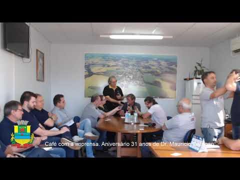 Café com a Imprensa. 31º Aniversário Político Administrativo de Dr. Maurício Cardoso