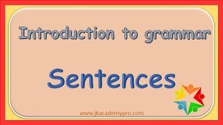 what is a Sentence, grade 1