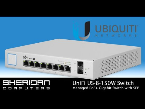 UniFi US-8-150W Managed PoE+ Gigabit Switch