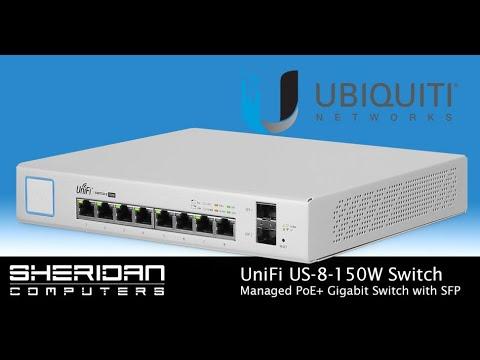 UniFi US-8-150W Managed PoE+ Gigabit Switch