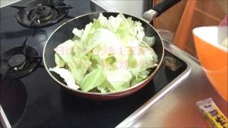 簡単ひき肉レシピキャベツとひき肉ピリ辛炒めFriedspicycabbageandmincedmeat