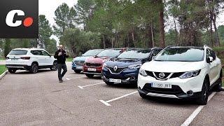 Seat Ateca vs Nissan Qashqai, Hyundai Tucson, Kia Sportage, Renault Kadjar | Prueba Comparativa SUV