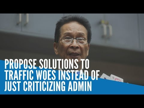 [Inquirer]  Panelo: Propose solutions to traffic woes instead of just criticizing admin
