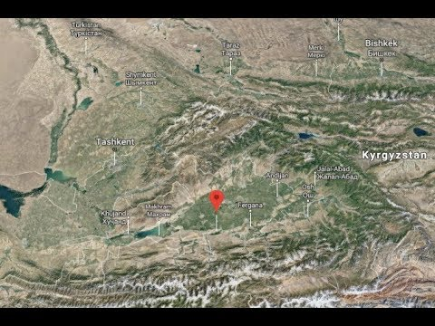 Небольшое землетрясение ощущалось в Ферганской долине