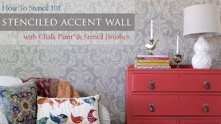 How To Stencil 101: Painting An Accent Wall With Wall Stencils And Chalk Paint