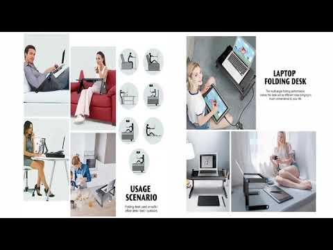 Столик для ноутбука с вентилятором складной из легкого алюминиевого сплава Laptop Workstation (LW-20664) Video #1