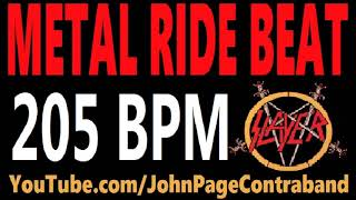 Metal Ride Beat 205 bpm Slayer Style Drums Only Track Loop