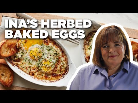 HERB-BAKED EGGS WITH INA GARTEN | FOOD NETWORK