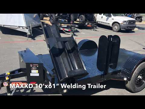 "2019 MAXXD TRAILERS 10' X 61"" WELDING TRAILER in Elk Grove, California - Video 1"