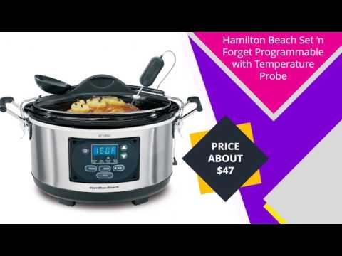 , Crock-Pot 6-Quart Countdown Programmable Oval Slow Cooker SCCPVC605-S