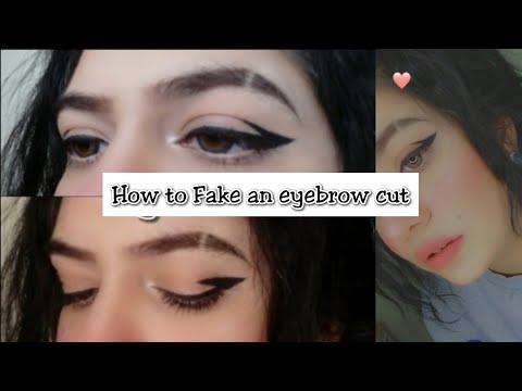 Fake eyebrow cut