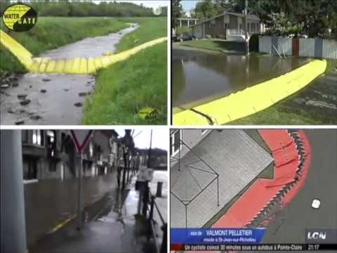 Anti flood boom - residential, industrial and commercial flood protection system