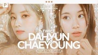 (Korean/Japanese) TWICE - Dahyun vs. Chaeyoung // Rap Distribution [ALL TITLE TRACKS]