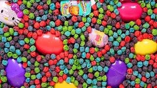 BIGGEST Toy and Surprise Egg Aquarium! Captain Crunch Berry Hello Kitty Peppa Pig Frozen Spongebob