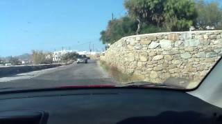 preview picture of video 'driving in mykonos'