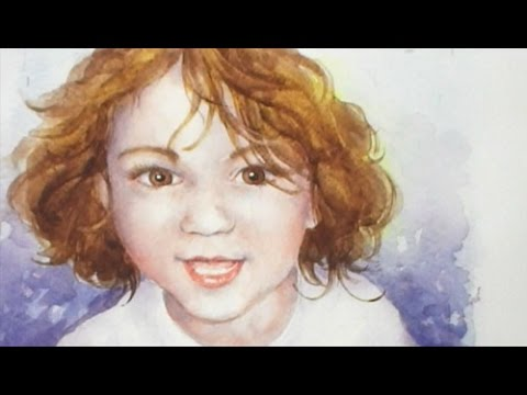 Part 1x4 How to paint a Portrait of a young Child in Watercolour