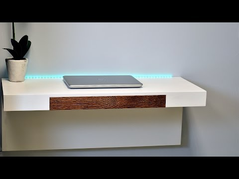 How to make a wall mounted desk with secret compartments (Plans Available)